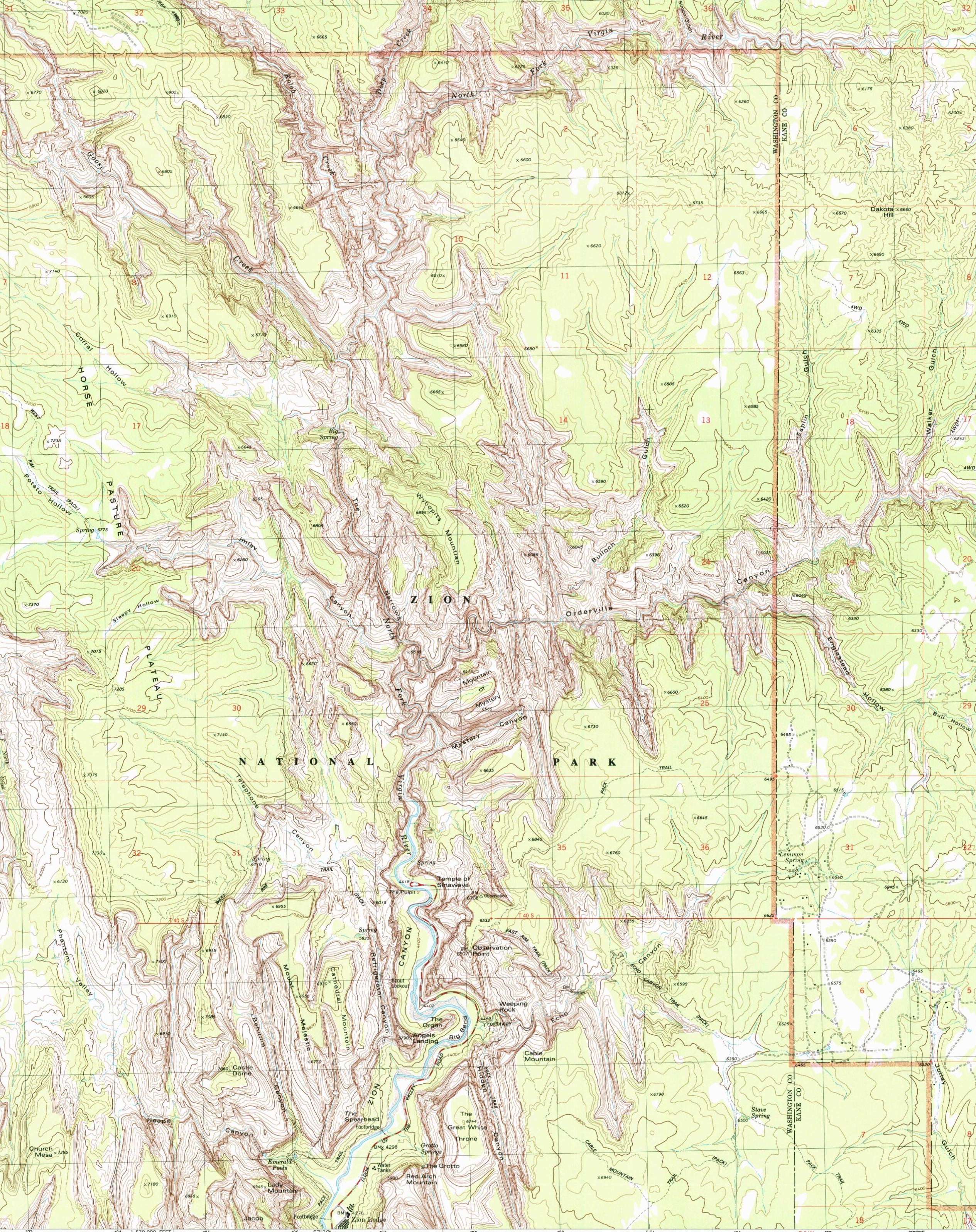 zion topo map